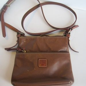 Dooney & Bourke Vintage Brown Leather Crossbody